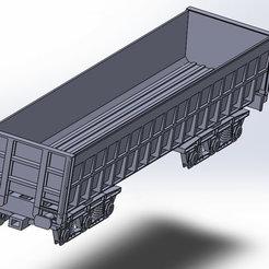 tomb-fer-1.jpg Télécharger fichier STL TRAIN : Wagon tombereau ferailles HO 1:87  • Modèle pour impression 3D, Mr_B
