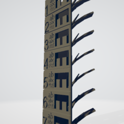 Download free 3D printing designs g-temperature tower code ender-3 (190-220°C), fenweek