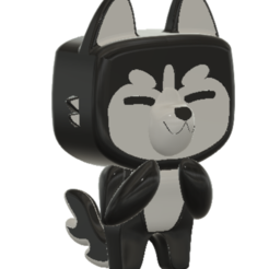 HUSY.PNG Download STL file Husky Gunther funko style • Design to 3D print, KANA_CREATORS