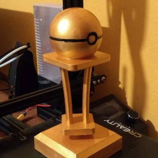 Trofeo.jpeg Download STL file Pokémon Trophy • 3D print template, jjpc2420