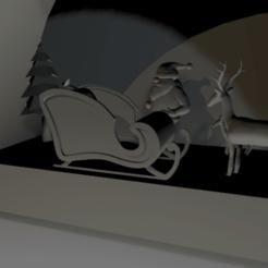 santa_reno2.png Download STL file Christmas Ornament • 3D print template, D3DLouis