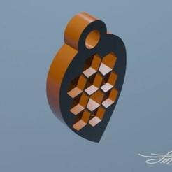 Llavero_Abeja3.jpg Download STL file Key ring • 3D printer model, D3DLouis