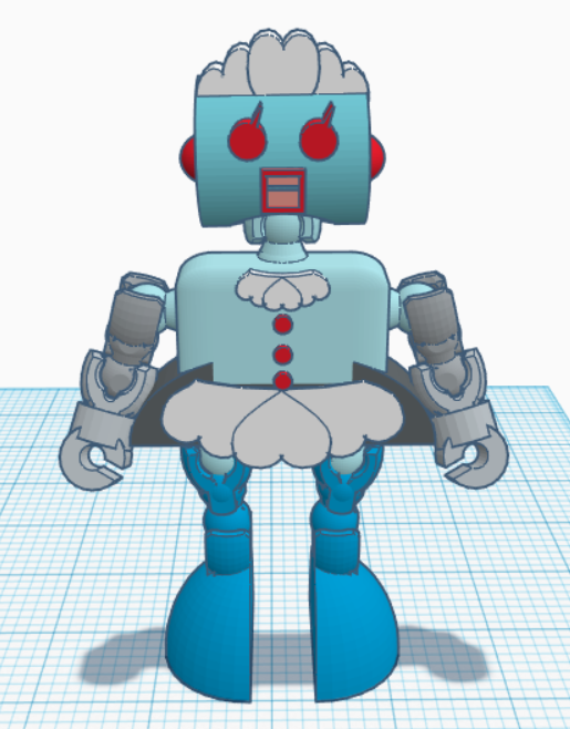 Klicket_Rosie.png Download free STL file Rosie the Robot Maid - Jetsons - Klicket Compatible • 3D print object, gotbits