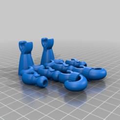 Klicket_tentacles.png Download free STL file Klicket Kat - poseable cat figurine toy • 3D printer object, gotbits