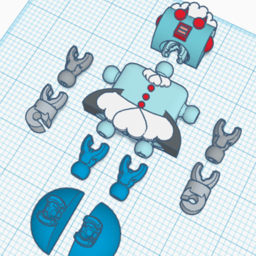 Klicket_Rosie3.png Download free STL file Rosie the Robot Maid - Jetsons - Klicket Compatible • 3D print object, gotbits