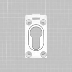 base cerradura 1.png Télécharger fichier STL couvercle de serrure • Plan pour imprimante 3D, franhabas