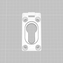 base cerradura 1.png Download STL file lock cover • 3D print model, franhabas