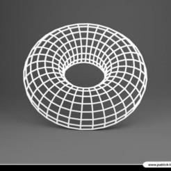 2002PLB010_Sous_verre_04_TORE.jpg Télécharger fichier STL Sous verre 04 - Trompe l'oeil – TORE • Modèle pour imprimante 3D, Pix0pat