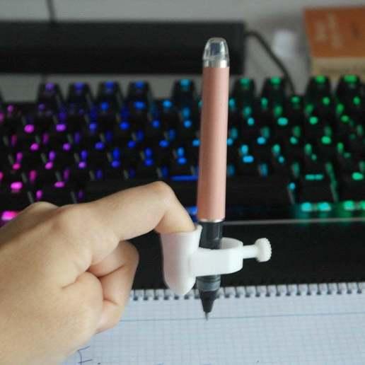 SAM_8766.JPG Download free STL file Finger Pen • 3D printer design, peluchitoanonimo