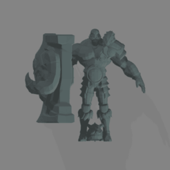 Télécharger fichier STL gratuit Braum de League of Legends • Plan imprimable en 3D, Botmaker211