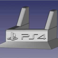 SOPORTE PS4 RENDER.png Télécharger fichier STL gratuit Support vertical PS4 (Fat) / Support PS4 (Fat) • Plan pour imprimante 3D, CHKDesign
