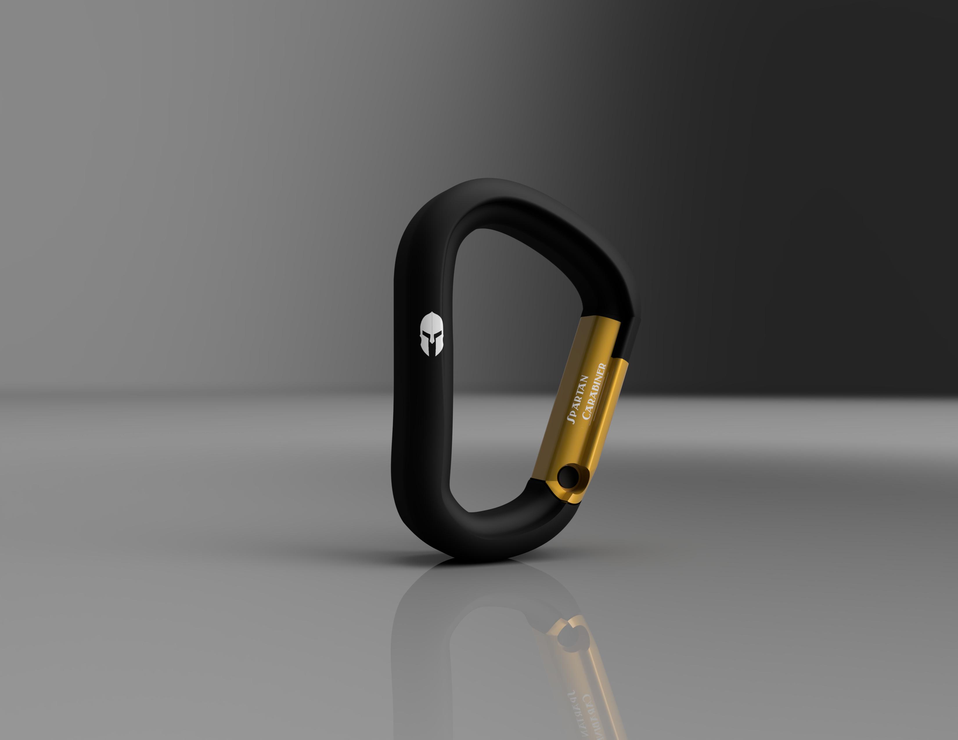 Mosqueton_Black_Diamong_2019-Oct-31_05-37-22AM-000_CustomizedView1676200639_jpg.jpg Download STL file Carabiner / Carabineer - Spartan Carabiner - • 3D printable design, CHKDesign