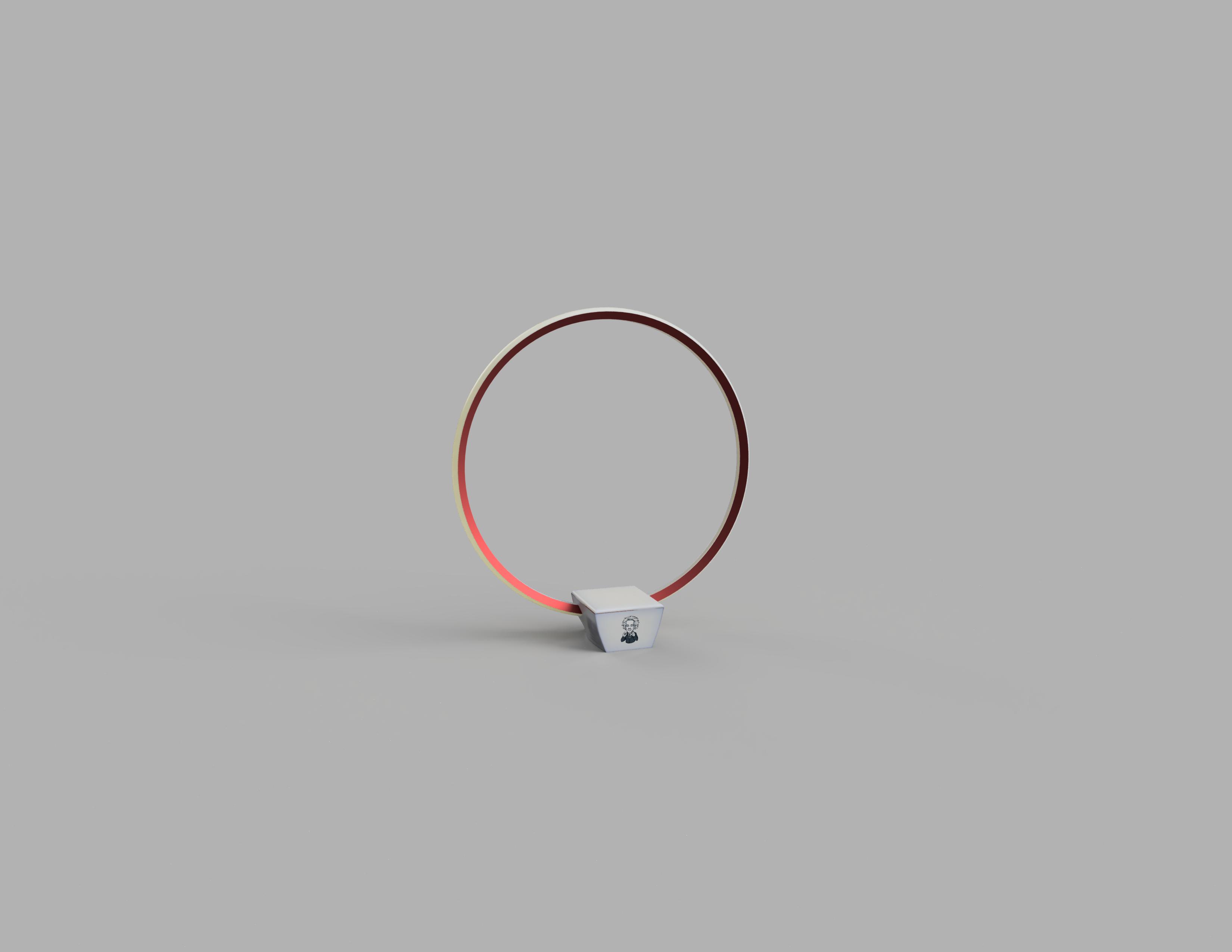 Lampara_Mesada Render.png Télécharger fichier STL gratuit Lampe - Circulaire LED - Circulaire • Design pour impression 3D, JDF89