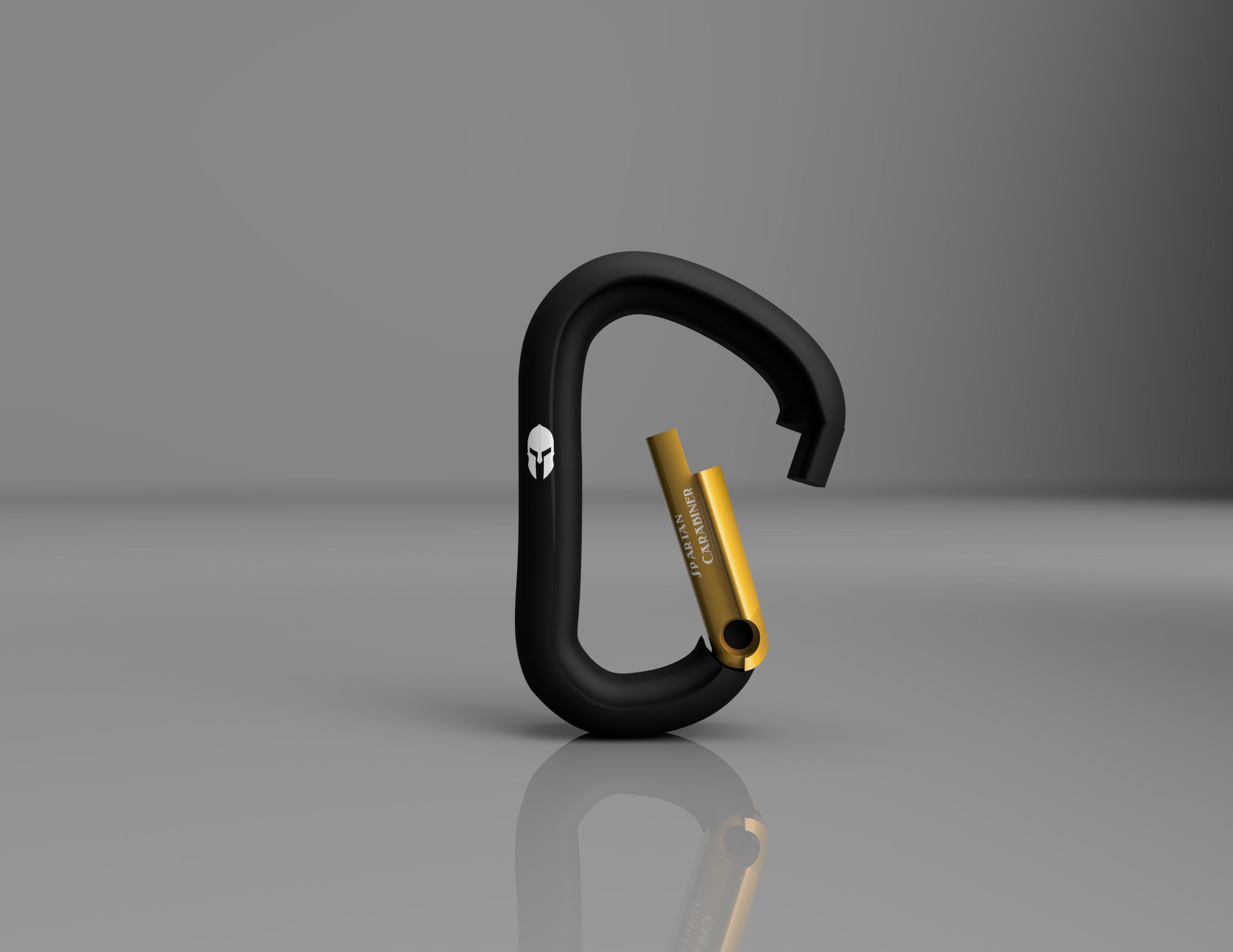Mosqueton_Black_Diamong_2019-Oct-31_05-38-12AM-000_CustomizedView8527058973_jpg.jpg Download STL file Carabiner / Carabineer - Spartan Carabiner - • 3D printable design, CHKDesign