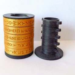 Download free 3D printer files Cryptex with customizable code, EL3D