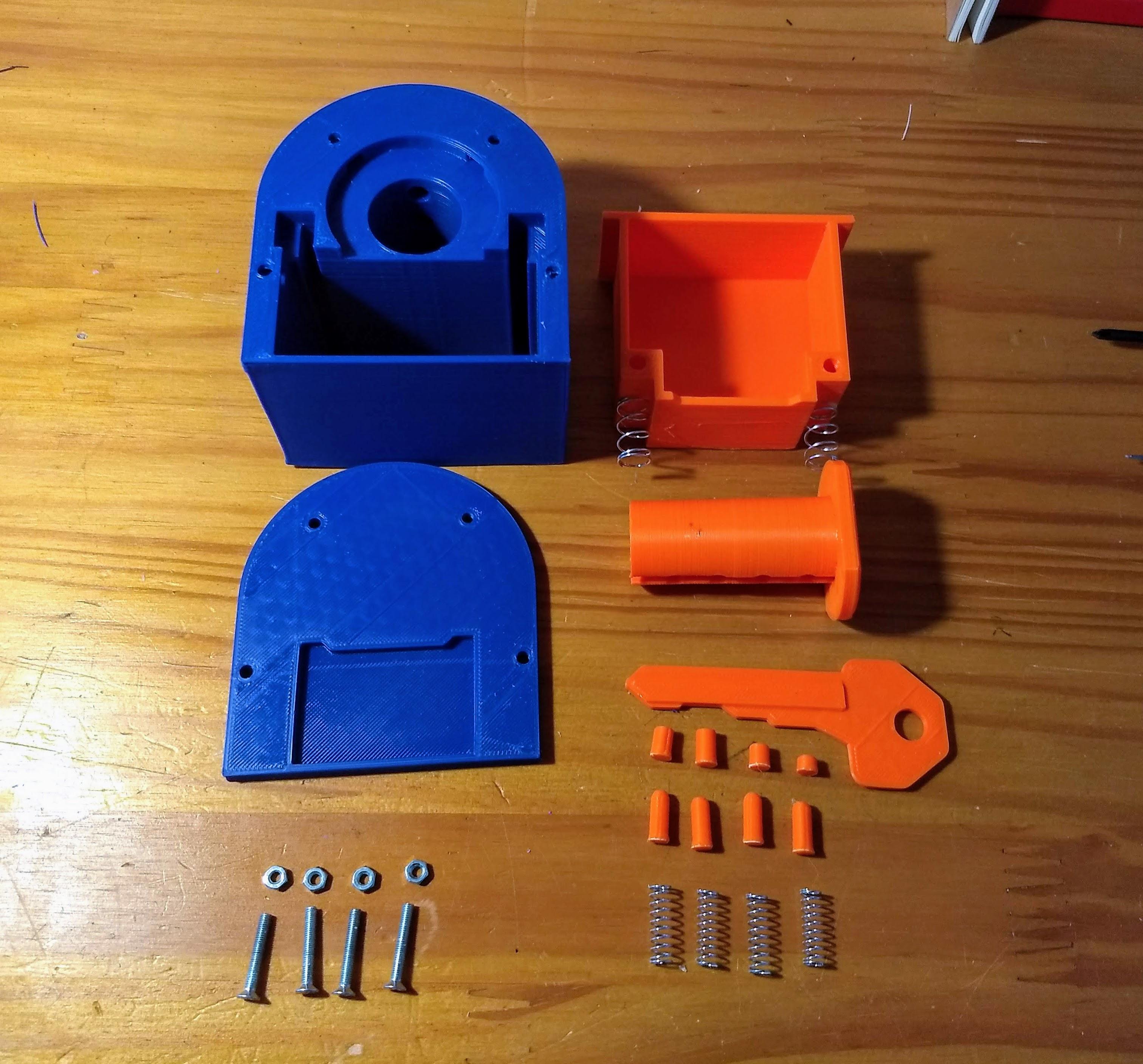 IMG_20190418_180630992.jpg Télécharger fichier STL gratuit Serrure imprimée 3D • Objet imprimable en 3D, EL3D