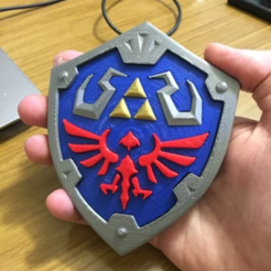 Download free STL file The Legend of Zelda - Hylian Shield multi-parts • 3D printer design, brunoip