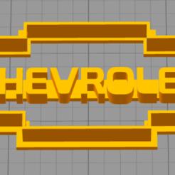 Download 3D printer templates Cutter cookie chevrolet logo cortante galletita, pablorusso88
