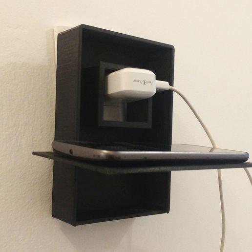 Download 3D printer designs Smartphone Charger Hanging Case, feder_ico