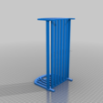 Download free 3D printer templates Mountable Barbie size bed for dolls, feder_ico