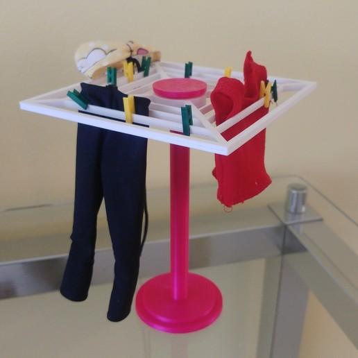 Download 3D printer model Clothesline for Doll House, feder_ico