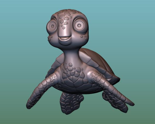 "container_turtle-sea-turtle-cartoon-3d-printing-166051.png Télécharger fichier OBJ gratuit TORTUE ""SEA FINDING NEMO MOVIE SQUIRT"" • Design imprimable en 3D, soriana3320"