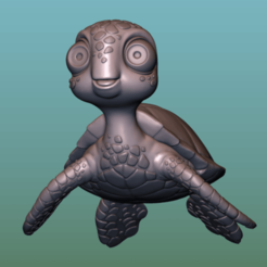 "Download free OBJ file TURTLE ""SEA FINDING NEMO MOVIE SQUIRT"" • 3D printer template, soriana3320"