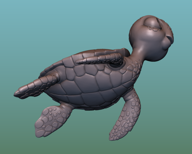 "container_turtle-sea-turtle-cartoon-3d-printing-166061.png Télécharger fichier OBJ gratuit TORTUE ""SEA FINDING NEMO MOVIE SQUIRT"" • Design imprimable en 3D, soriana3320"