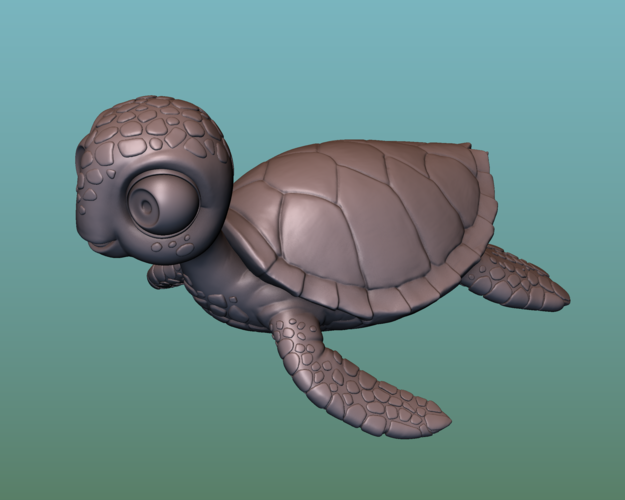 "container_turtle-sea-turtle-cartoon-3d-printing-166058.png Télécharger fichier OBJ gratuit TORTUE ""SEA FINDING NEMO MOVIE SQUIRT"" • Design imprimable en 3D, soriana3320"
