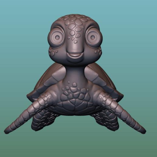 "container_turtle-sea-turtle-cartoon-3d-printing-166052.png Télécharger fichier OBJ gratuit TORTUE ""SEA FINDING NEMO MOVIE SQUIRT"" • Design imprimable en 3D, soriana3320"