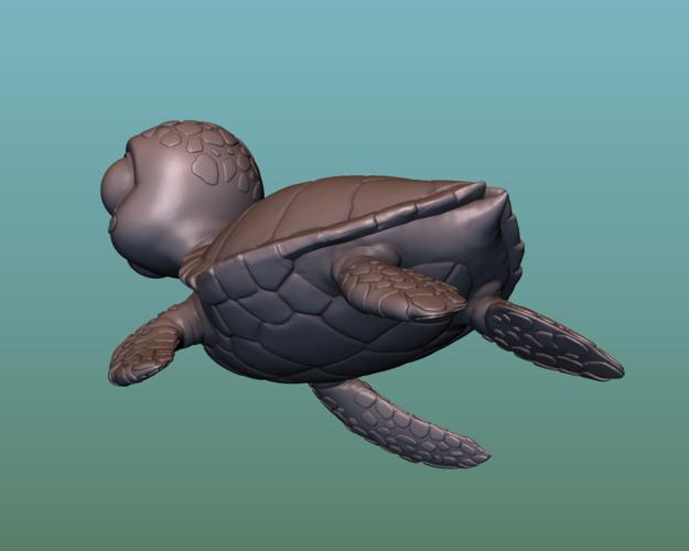 "container_turtle-sea-turtle-cartoon-3d-printing-166060.png Télécharger fichier OBJ gratuit TORTUE ""SEA FINDING NEMO MOVIE SQUIRT"" • Design imprimable en 3D, soriana3320"