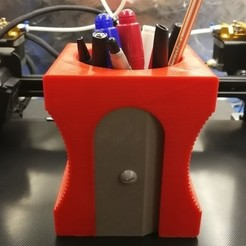 Download free 3D printing files Pencil Sharpener Penholder, 3d_dd_printing