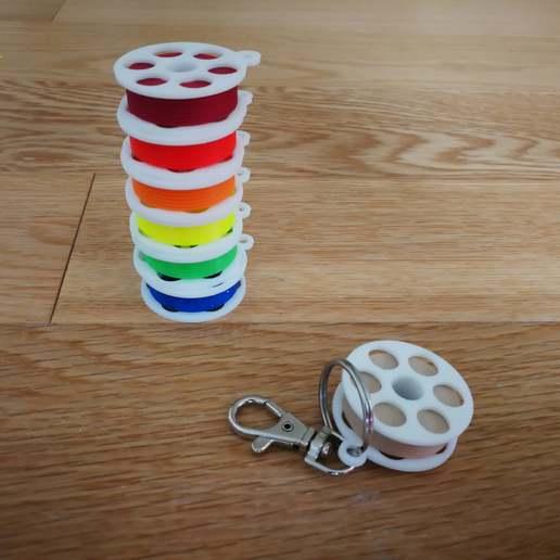 Download free 3D model Mini Filament Spool Keychain, 3d_dd_printing