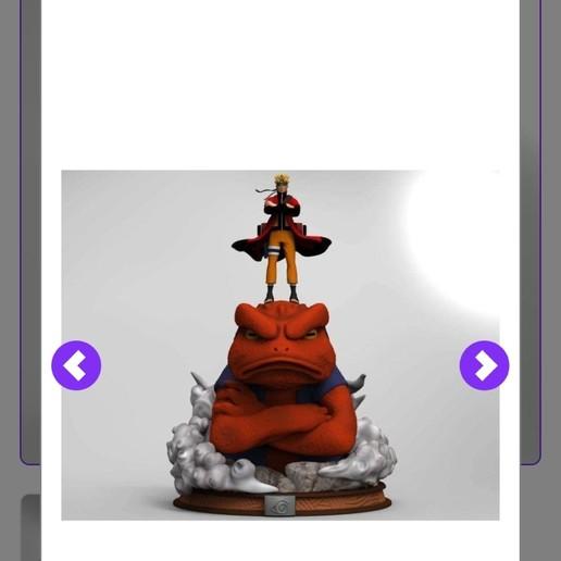 Imprimir en 3D gratis Naruto y Gamakichi, superivilopez2