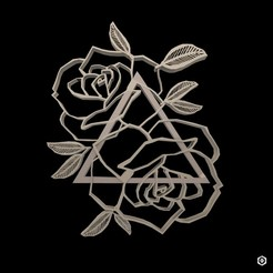 inst.jpg Download OBJ file Roses and triangle • Design to 3D print, Proyect3DPro