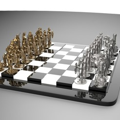 1.jpg Download OBJ file Medieval chess • 3D printable template, Proyect3DPro