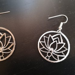 Download 3D print files Earring Lotus flower, Proyect3DPro