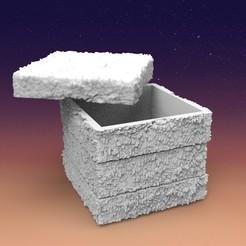 Download 3D printer files Stone box ,decorative, DESIGNS0iKKi