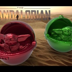 Download STL BABY YODA MANDALORIAN, DESIGNS0iKKi