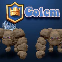 Télécharger fichier impression 3D Golem, Clash, jeu,, DESIGNS0iKKi