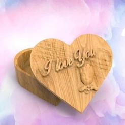 Télécharger modèle 3D Groot est l'amour Box Heart, DESIGNS0iKKi