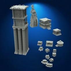 Descargar modelos 3D 12 casas caballeros del Zodiaco, DESIGNS0iKKi