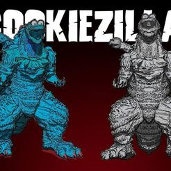 COOKIEDZILLA.JPG Download STL file COOKIEZILLA FAN ART • 3D print template, DESIGNS0iKKi