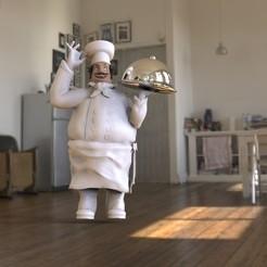 Télécharger fichier impression 3D Chef,Cuisinier,Cuisinier,Cuisinier,Ornement, DESIGNS0iKKi