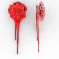 Télécharger STL Pendentif décoratif rose, DESIGNS0iKKi
