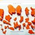 Download free STL Map of Mexico Puzzle (GDP per capita), NOconvencional