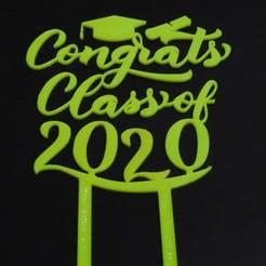 Download STL file Topper cake - Congrats Class of 2020 • Object to 3D print, NoConvencional