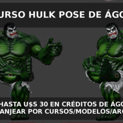 CONCURSO HULK POSE.PNG Download STL file Agora3D Hulk Pose Contest • 3D printing template, estebanb