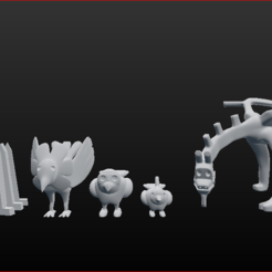 1.PNG Download STL file Clay figures from Deidara • Model to 3D print, estebanb