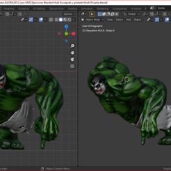 pose 5.PNG Download STL file 4 Incredible Hulk Poses • 3D printable model, estebanb